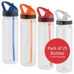 Ledge Sports Water Drink Bottle - Pack of 25 Bottles