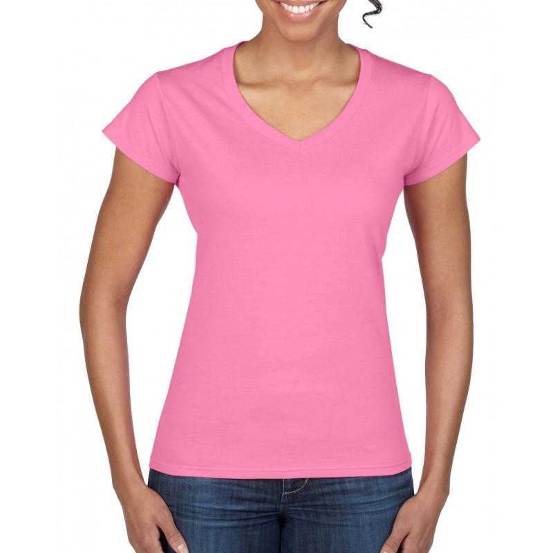 3f6e9fc5a Custom V-Neck Womens T-Shirt Printing | Design Online Gildan ...