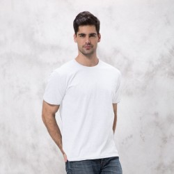 Mens Basic White Short Sleeve T-Shirt