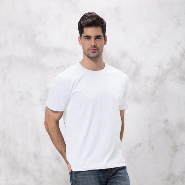 Mens Basic White Short Sleeve T-Shirt