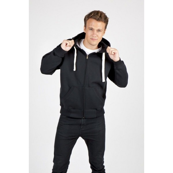 Mens Heavy Fleece Zipper Hoodie
